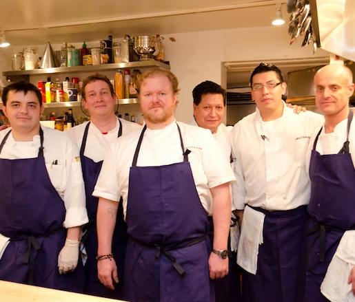 Chef Shane McBride and his team at the Beard House