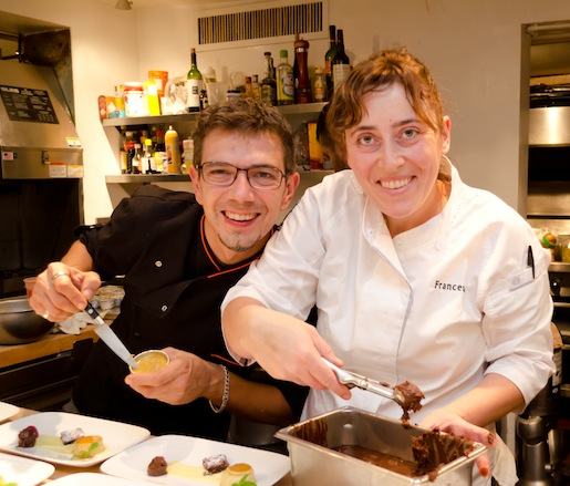 Mario Cassineri and Francesca Penoncelli at the James Beard House