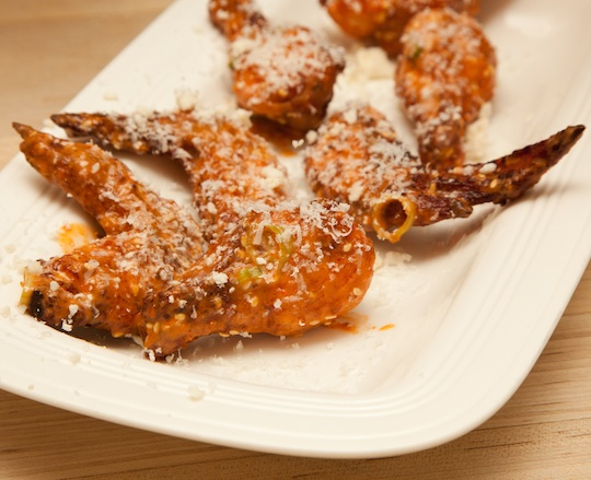 Salsa-Brined Chicken Wings with Queso Cotija