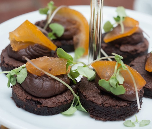 Chocolate Crémeux with Grapefruit and Mint