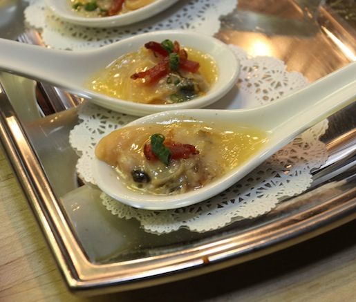 Roasted Littleneck Clams with Bacon and Duck Fat Beurre Blanc
