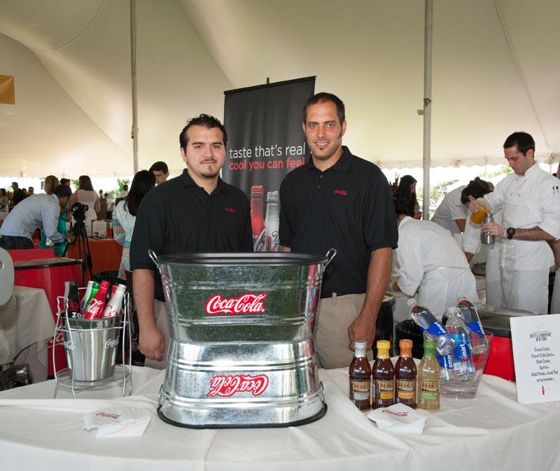 The Coca-Cola bar