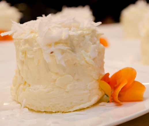 Ortanique's Coconut Cloud with Coconut Cream, Coconut Buttercream, and Freshly Grated Coconut