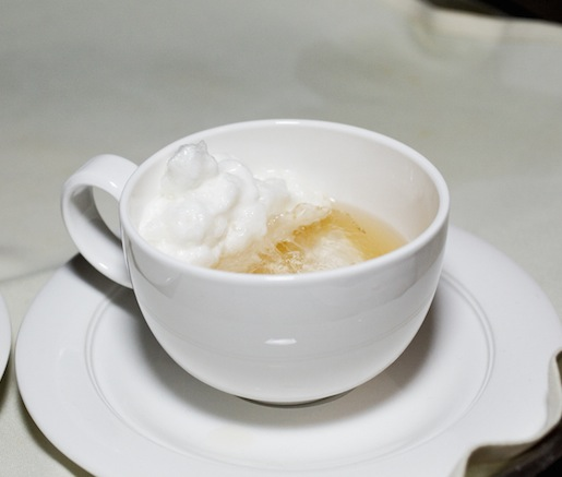 Coffee or T? > Coffee-Scented Milagro Tequila with Apricot Eau-de-Vie and Citrus Espuma