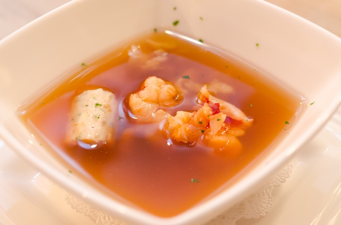 Shellfish Consommé with Lobster and Crab