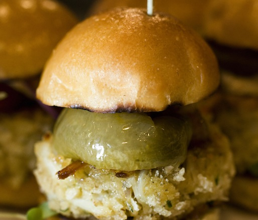 Crab B.L.T. Sandwiches with Fried Green Tomatoes