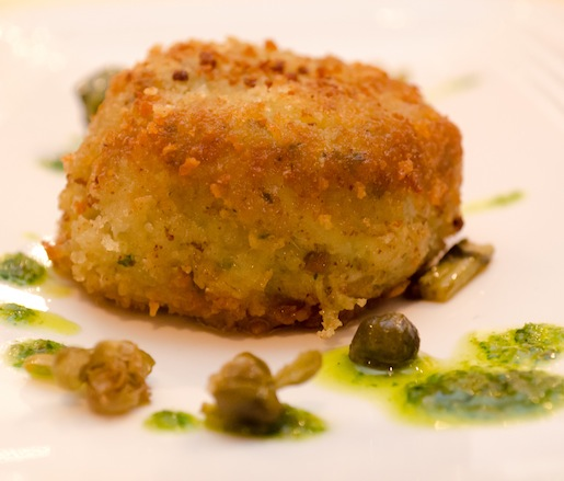 Wild King Crab Tortino with Salsa Verde