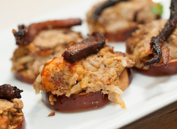 Pressed Crayfish Boudin with Pork Cracklings