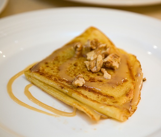 Apple-Stuffed Crêpes with Toasted Walnuts and Maple Cream
