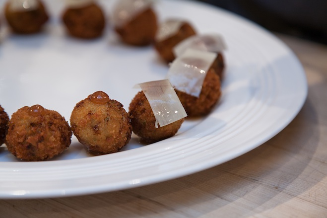 Smoked Trout Croquettes with Horseradish and Apple