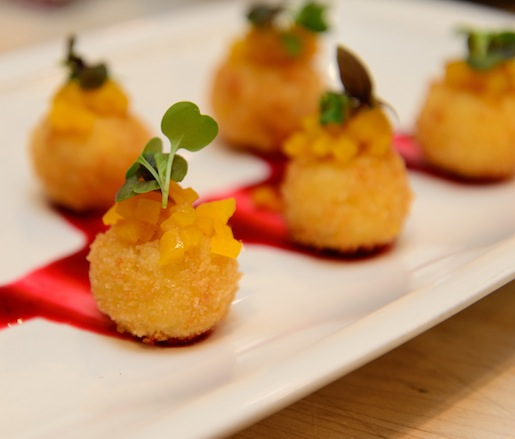 Beltane Farm Cheese Croquettes with Roasted Beets