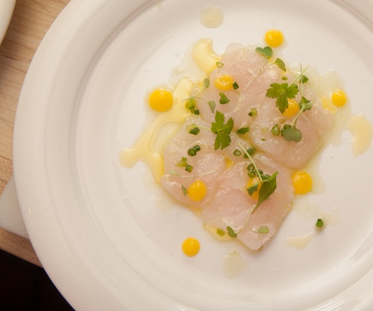 Fluke Crudo with Green Apple, Celery, and Meyer Lemon