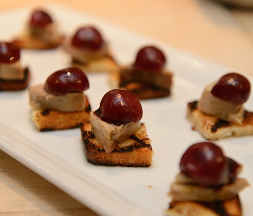 Cured Hudson Valley Foie Gras with Pickled Cherries
