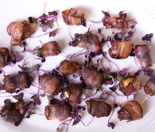 Bacon-Wrapped and Marcona Almond–Stuffed Medjool Dates