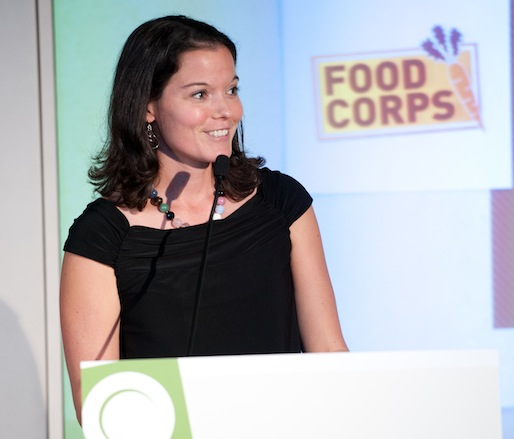 2011 JBF Leadership Award winner and FoodCorps founder Debra Eschmeyer