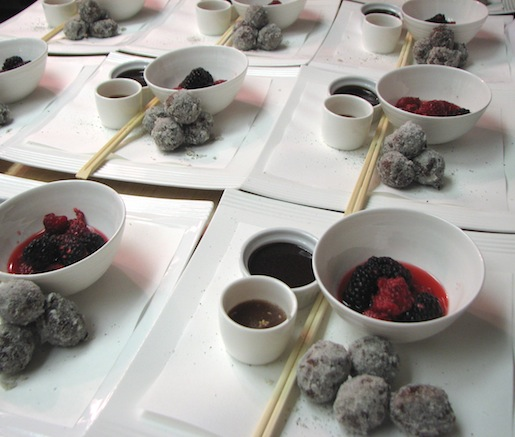 Sesame–Chocolate Doughnuts with Five-Spice, Black Tea, and Star Anise