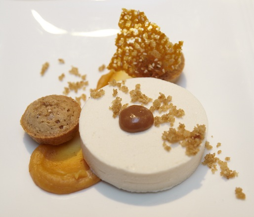 Chilled Sesame Mousse with Pumpkin Ganache and Chestnut Financiers