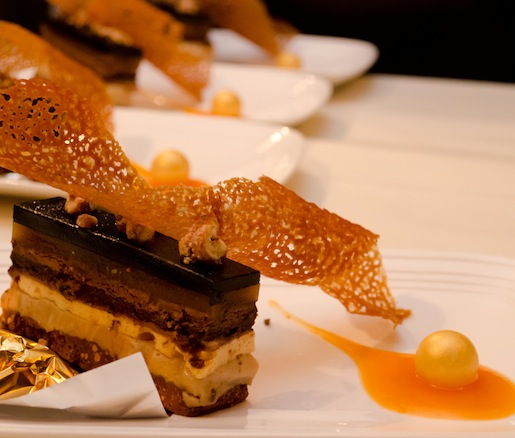 Valrhona Manjari Candy Bar with Apricots and Crispy Wafers