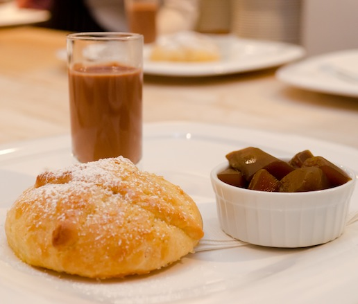 Day of the Dead Bread with Candied Pumpkin, Mexican Chocolate, and Tequila Atole