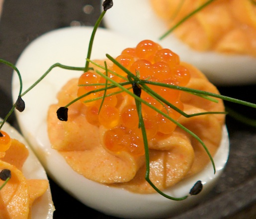 Deviled Eggs with Lobster Bottarga