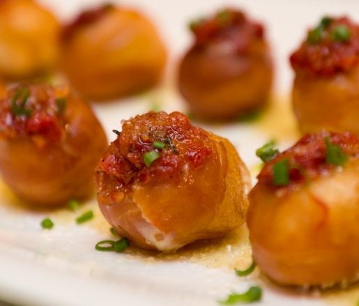 Preserved 2012 Tomato Jelly Doughnuts with Heritage Pork Dripping Glaze