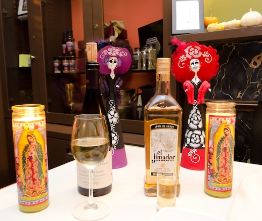 Wine and Tequila served at the James Beard House dinner