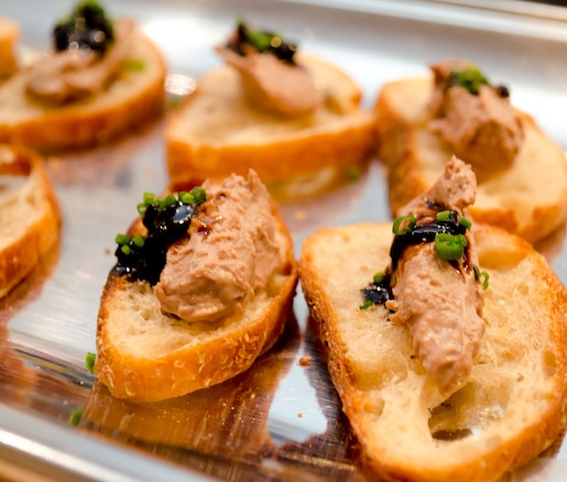 Liberty Farms Duck Liver Pâté with Red Onion Marmalade on Crostini