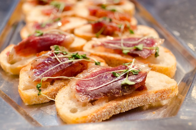 Duck Prosciutto with Fruit Chutney
