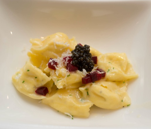 Horseradish and Crème Fraîche–Filled Fagotelli Pasta with Ash-Roasted Beets