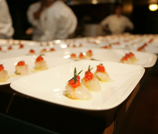 Fluke with Red Peppers, Preserved Lemon, and Rosemary