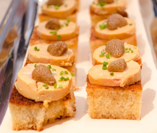 Pleasant View Farm Foie Gras Torchon with Pickled Green Strawberries