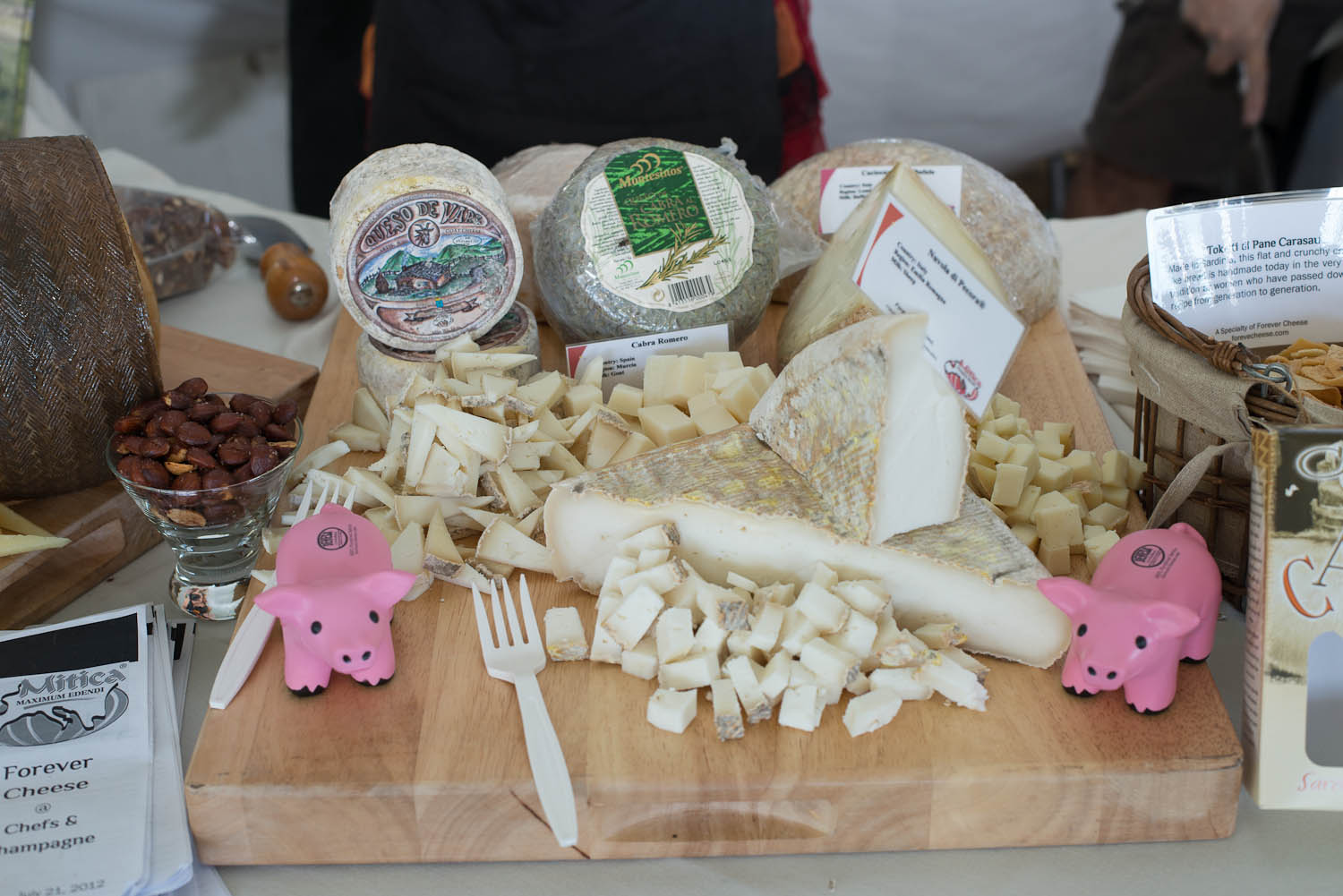 A selection of cheese from Forever Cheese