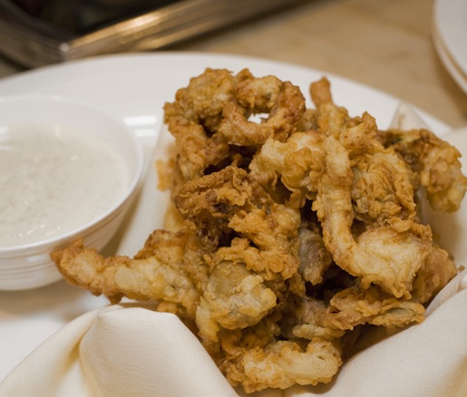 Fried Ipswich Clam Bellies with Tartar Sauce