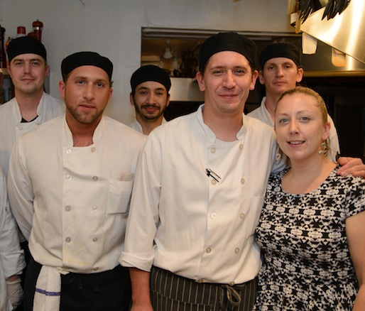 Chef Justin Aprahamian and his team at the Beard House