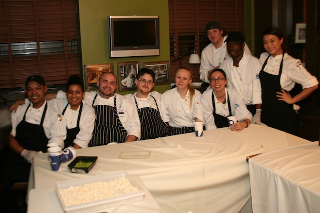 Chef Colt Taylor with his team at the James Beard House
