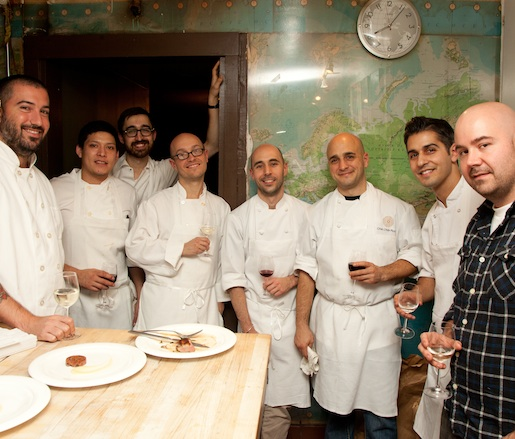 The chefs in the James Beard House Kitchen
