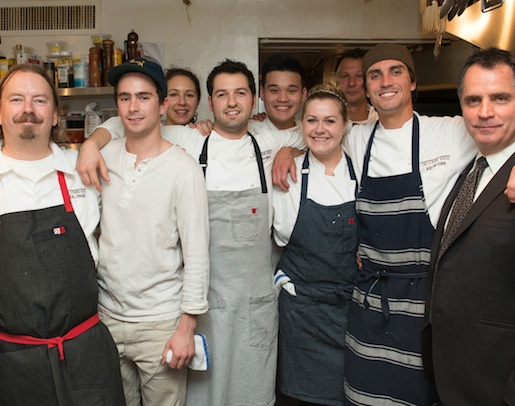 Chefs Neal Fraser and Greg Hozinsky with their team at the James Beard House Kitchen