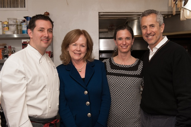 Michael Anthony, Susan Ungaro, Juliette Pope, and Danny Meyer at the James Beard House