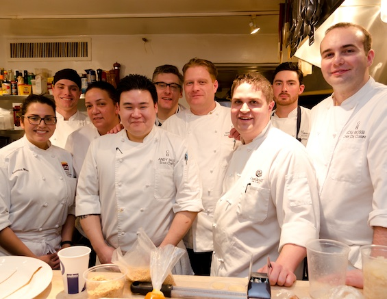 Chef Karsten Hart with his team at the James Beard House Kitchen