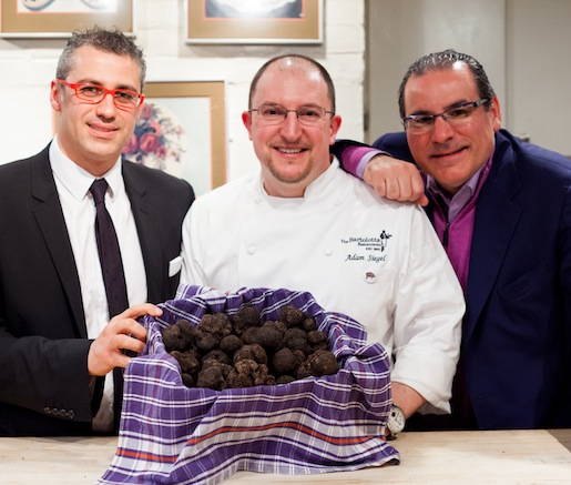 Vittorio Giordano, Adam Siegel, and Paul Bartolotto in the Beard House kitche