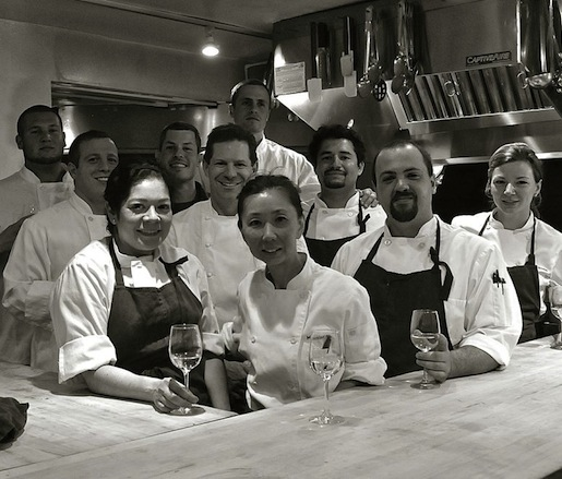 Josh Thomsen, his team, and Steve Tomlinson at the Beard House