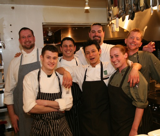 Bill Brodsky and his team in the Beard House kitchen