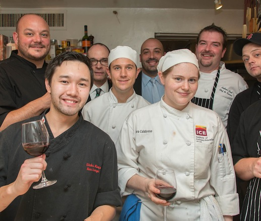 Jeff Maxfield and his team at the James Beard House