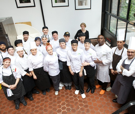Gabriella Ganugi, Andrea Trapani, Desiré Boualy, Simone De Castro, Massimo Coppetti, and their team at the James Beard House