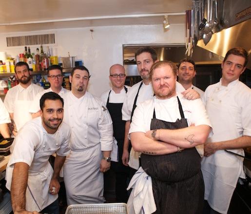 Jeremy Bearman, Michael Carrino, Sean Gray, Shane McBride, Joseph Tarasco, James Tracey, and their team at the James Beard House