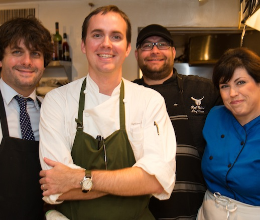 Case Dighero, Matthew McClure, Rob Nelson, and Tammy Varney at the James Beard House