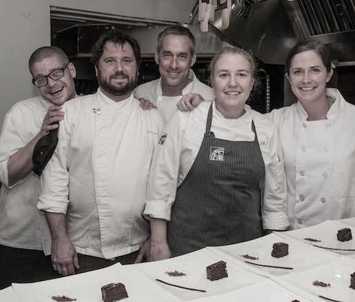 Sarah Schafer and her team at the James Beard House