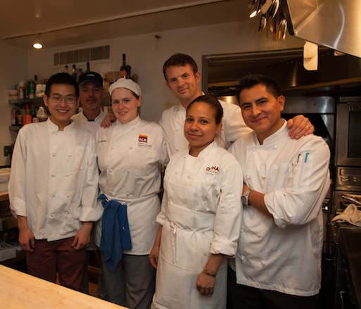 Florian Hugo and his team at the James Beard House