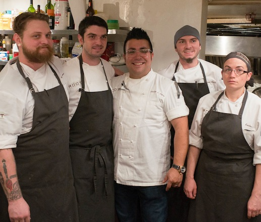 Phillip Lopez and his team at the James Beard House