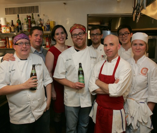 Jeremy Nolen and his team at the James Beard House.